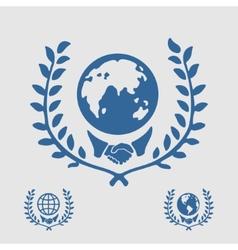 International Symbol Handshake vector image vector image