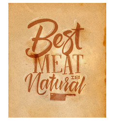 poster best meat craft vector image vector image