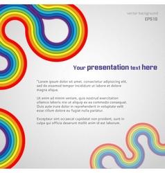 White Rainbow Presentation Background vector image vector image