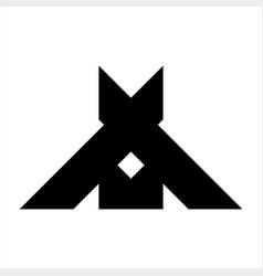 a ax xa axm initials company logo vector image
