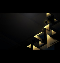 Abstract polygonal pattern luxury black and gold vector