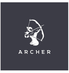 archer logo design templatearchery logo vector image