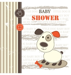 baby shower with dog vector image