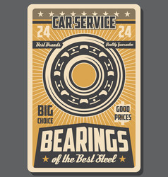 Bearings and spare parts car repair service vector