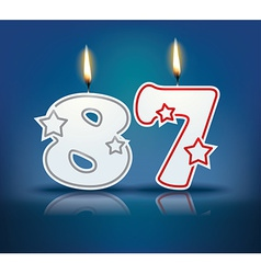 Birthday candle number 87 vector