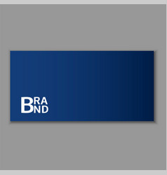 blue envelope icon realistic style vector image