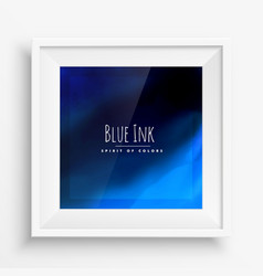 Blue ink background vector
