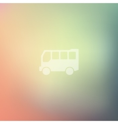 Bus icon on blurred background vector