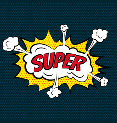 cartoon comic super bubbles labels with text and vector image
