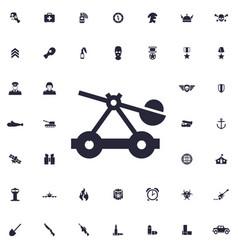 Catapult icon vector