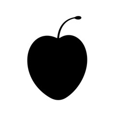 cherry plum fruit vector image