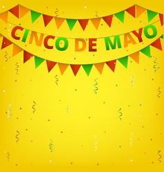 Cinco de mayo colorful bunting vector