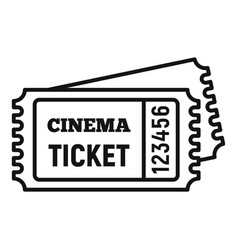 Cinema ticket icon outline style vector