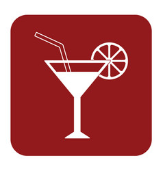 Cocktail glass sign with martini vodka icon vector