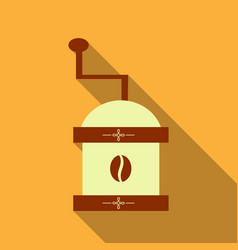 coffee grinder isolated on background retro vector image