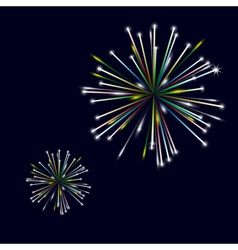 Colorful shiny fireworks on black background eps10 vector