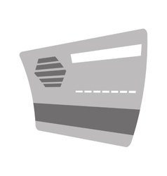 credit card bank gray color vector image