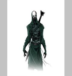 cyborg concept concept art vector image