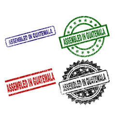 damaged textured assembled in guatemala seal vector image