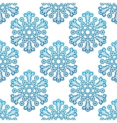 Decorative seamless pattern with snowflakes vector image