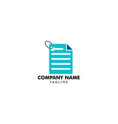 Document or paper sheet logo design vector