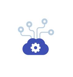 Edge computing technology icon vector