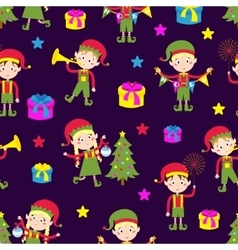 Elf helpers vector image