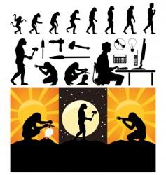 Evolution person vector