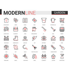 Garden farm tools flat icon vector