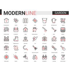 garden farm tools flat icon vector image