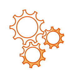 gear teamwork wheel mechanism power vector image