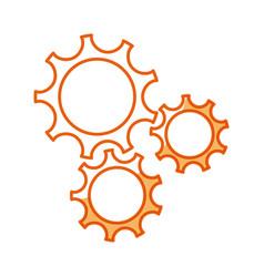 gear teamwork wheel mechanism power vector image