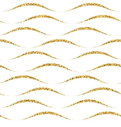 Gold wave seamless pattern white 4 vector image