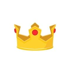 Golden crown cartoon icon vector image