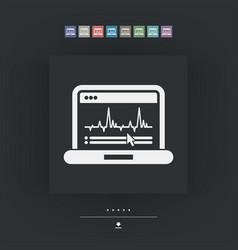 Graphic diagram computer icon vector