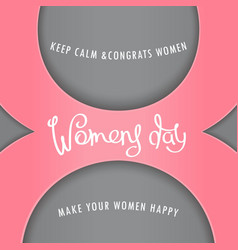 greeting card to womens day vector image