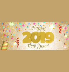 happy new year 2019 banner vector image