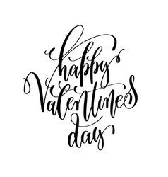 Happy valentines day black and white hand vector