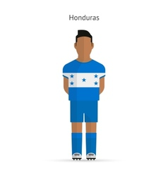 Honduras football player Soccer uniform vector