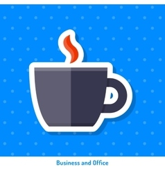 Icon cup of coffee vector
