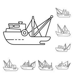 Isolated object commercial and vessel sign vector