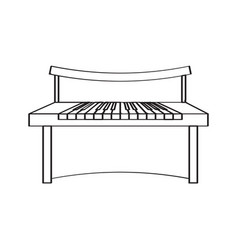 Isolated piano icon musical instrument vector