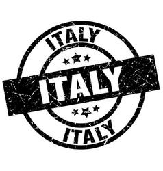 Italy black round grunge stamp vector