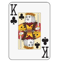 Jumbo index king of clubs vector