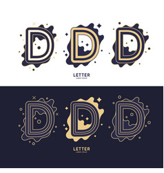 Letter d latin alphabet display vector