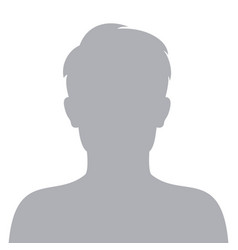 Male default avatar profile icon man face vector