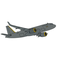 Military intelligence jet aircraft vector