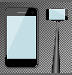 mockup template black modern realistic smartphone vector image