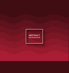 modern abstract wavy background in red color vector image