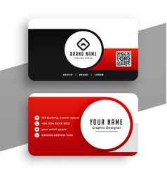 Modern red business card for your business vector